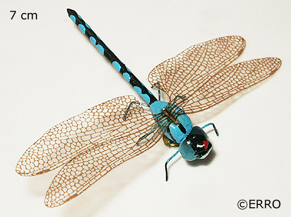 Magnet Libelle Blau InsektenmagnetGeschenkidee Deko