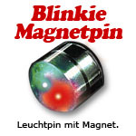 Magnet Anstecker Space Magnetic rot/grün