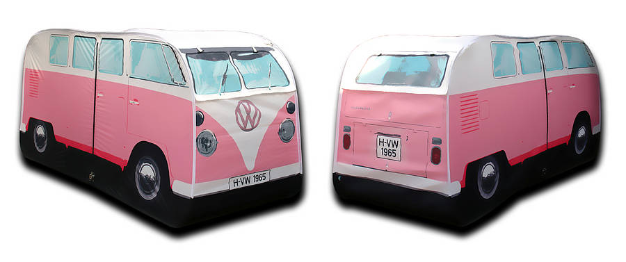 vw bus kinder zelt t1 in rosa wurfzelt spielzelt tent. Black Bedroom Furniture Sets. Home Design Ideas