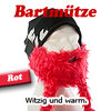 Bart-Mütze Red Viking Skimaske