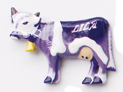 Magnet Lila Kuh Dekoration Magnete