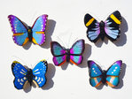Magnetschmetterlinge blau 5er Set C - Butterfly