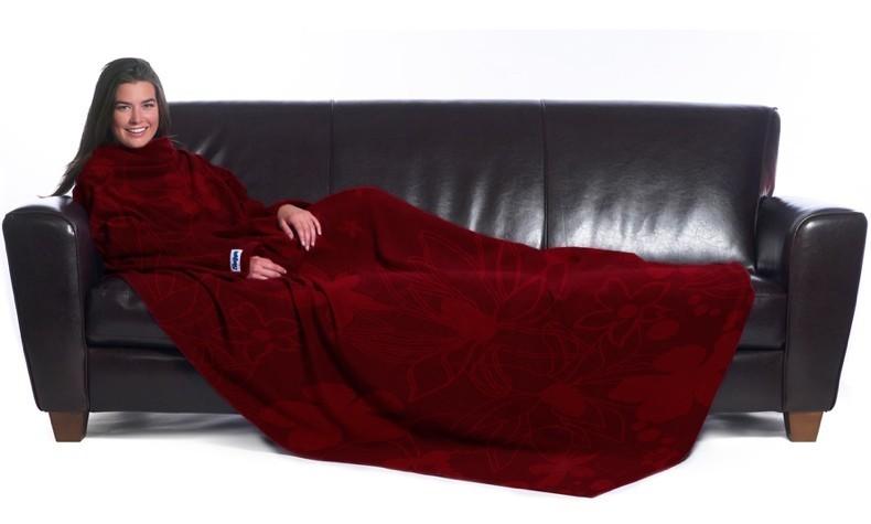 slanket fleece decke mit rmeln rot das original. Black Bedroom Furniture Sets. Home Design Ideas
