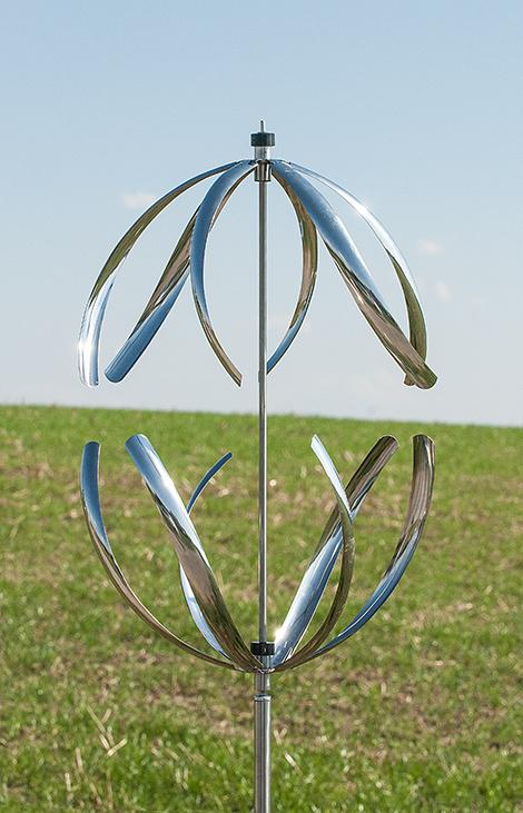 gartenstecker windspiel edelstahl – spinjo, Terrassen ideen