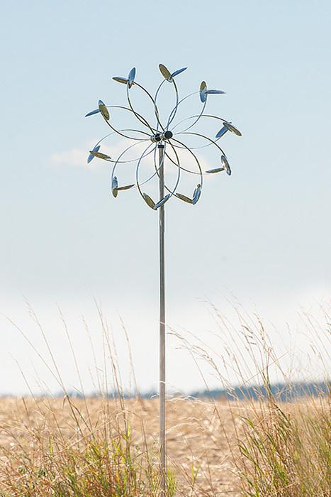 Deko windspiel wind flower st winddancer pow2680 au endeko - Gartendeko stahl ...