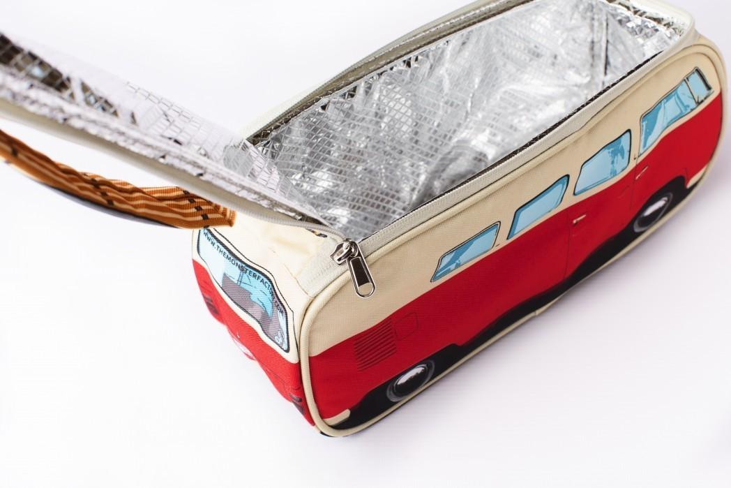 vw bus bully k hltasche rot vw camper picknick tasche bulli. Black Bedroom Furniture Sets. Home Design Ideas