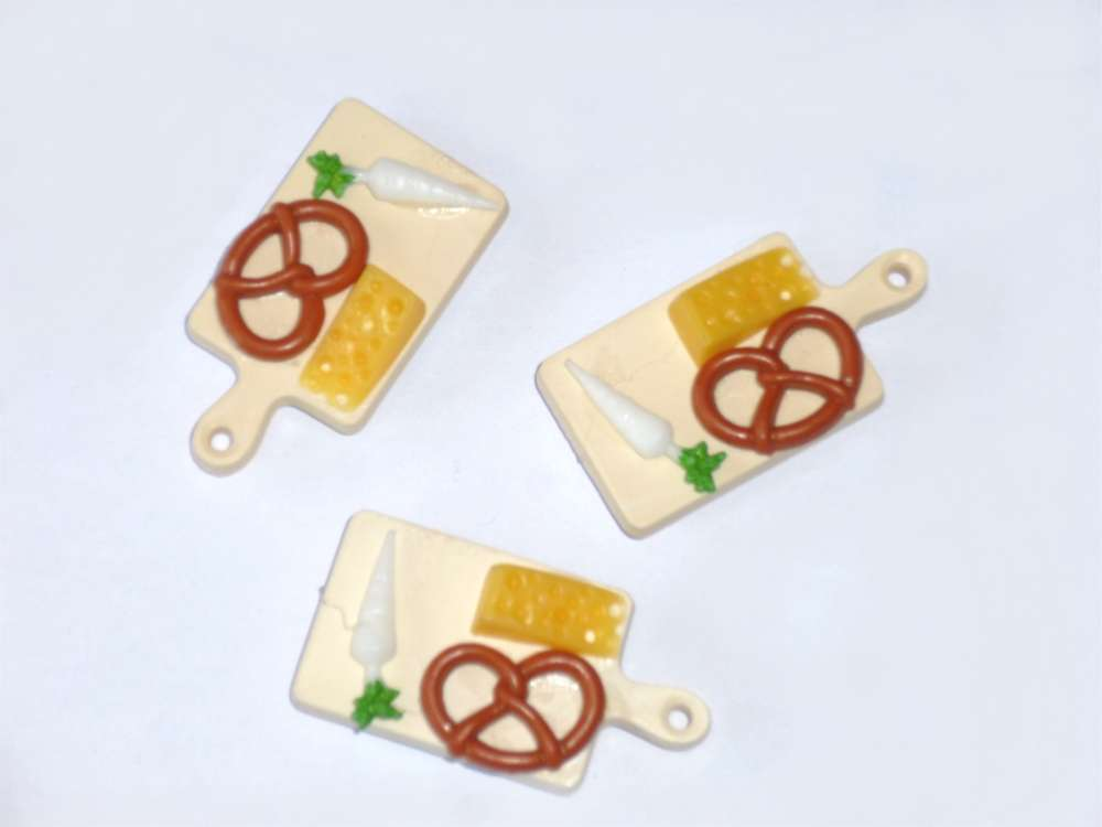 Kühlschrankmagnete Set : 3er set magnete brotzeitbrett mit radi & breze spaß dekomagnete