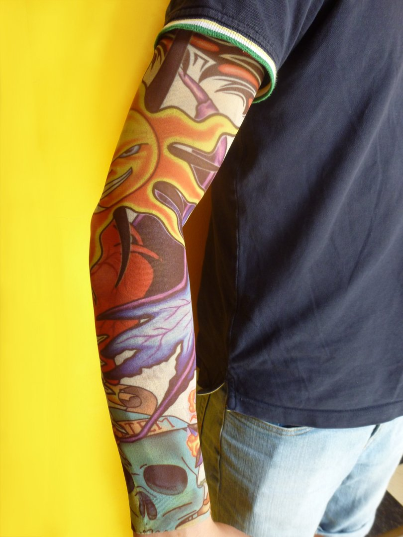 tattoostrumpf rmel tattoo zum berziehen t towierung arm. Black Bedroom Furniture Sets. Home Design Ideas