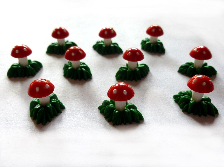 Basteln Silvester sockel mit fliegenpilz 10er set glücksbringer zu silvester
